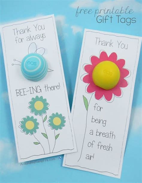 eos lip balm  printable   tags