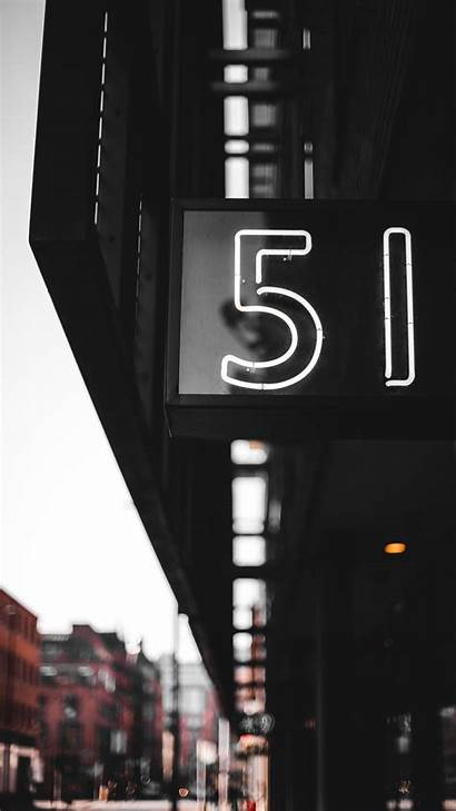 Numbers Number Sign Street Background