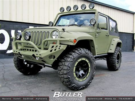 jeep wrangler military style jeep wrangler with 17in atx ax186 wheels via flickr