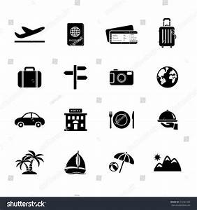 Travel Icons Vacation Icon Vector Illustration Stock ...