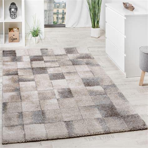 Teppich Wohnzimmer Beige by Teppich Meliert Modern Webteppich Klein Kariert Hochwertig