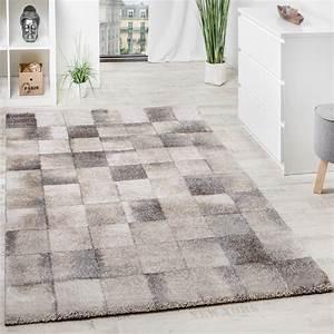 Teppich Grau Silber : teppich meliert modern webteppich klein kariert hochwertig in beige grau creme teppiche kurzflor ~ Markanthonyermac.com Haus und Dekorationen