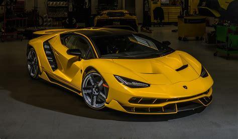 yellow lamborghini centenario delivered in california