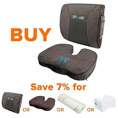 Soft&Care Seat Cushion Coccyx Orthopedic Memory Foam and