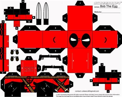 24 Images Of Cubeecraft Deadpool Template
