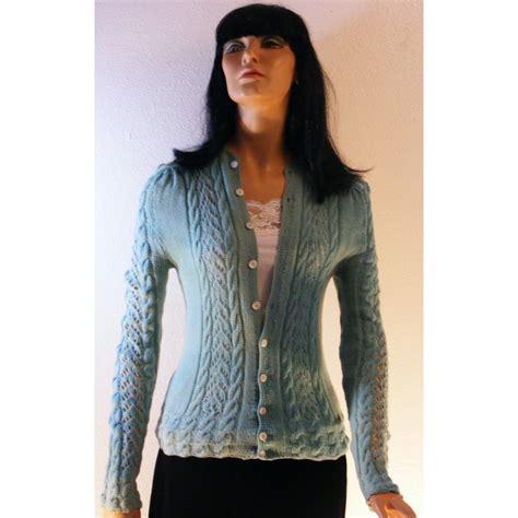 vintage womens handmade knitted sweater angel elegance