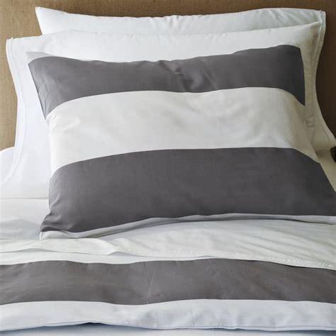 west elm duvet covers stripe duvet cover and shams white feather gray
