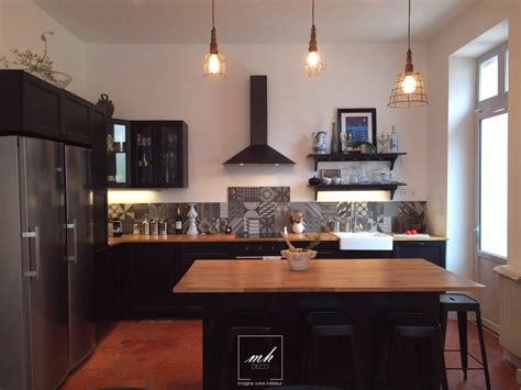 cuisine et salon moderne decoration interieur cuisine equipee