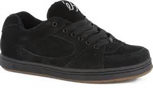 es accel og skate shoes black free shipping