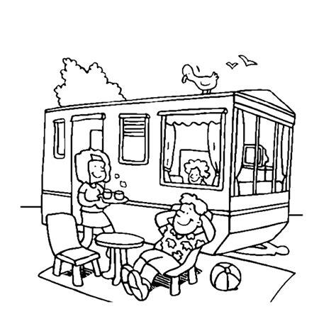 Caravan Kleurplaat by Leuk Voor Relaxen Voor De Caravan