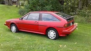 1987 Volkswagen Scirocco  16 Valve  Red  5spd  Leather