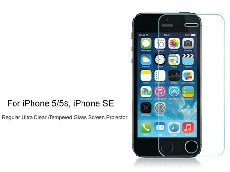 regular ultra clear tempered glass screen protector for