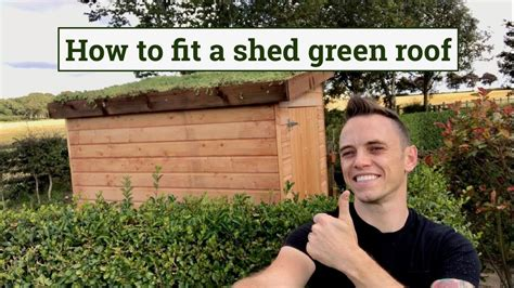 how to fit a green roof to a garden shed youtube