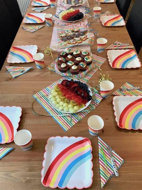 deko einhorn regenbogen einhorn geburtstag deko spiele kuchen mamaskind
