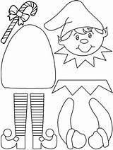 Elf Coloring Shelf Printable sketch template