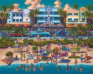 South Beach Miami Jigsaw Puzzle PuzzleWarehouse com