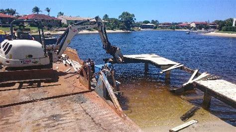 barge hire sunshine coast pontoon dredging jetty repairs
