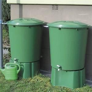 Recuperateur Eau De Pluie Leclerc : 2 r cup rateurs d 39 eau cylindriques vert 510l garantia ~ Premium-room.com Idées de Décoration
