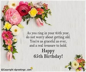 65th Birthday Messages | Dgreetings.com