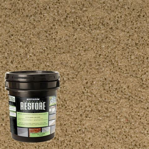 rust oleum restore 4 gal 10x advanced river rock deck and