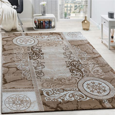 tapis design floral chine beige tapis