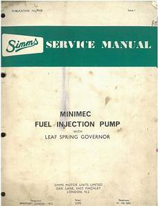 Simms Minimec Fuel Injection Pump With Leaf Spring