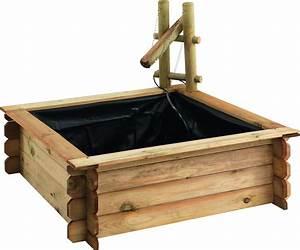 Pouf En Bois : bassin bois carr tokyo ~ Teatrodelosmanantiales.com Idées de Décoration