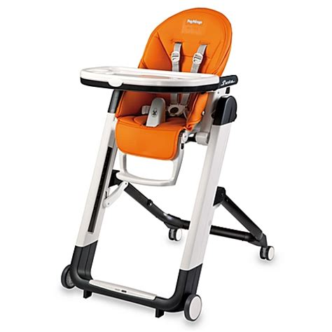 peg perego high chair siesta tray peg perego siesta high chair in arancia orange www