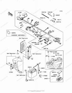Kawasaki Motorcycle 2003 Oem Parts Diagram For Chassis