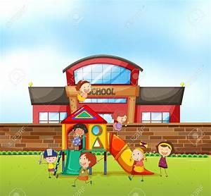 44065096-Children-playing-at-school-playground ...