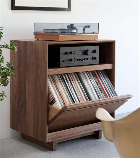 turntable cabinet lp storage cabinet symbol handcrafted audio home