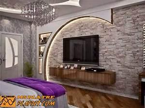 Décoration Télévision Murale : d coration salon placoplatre ~ Teatrodelosmanantiales.com Idées de Décoration