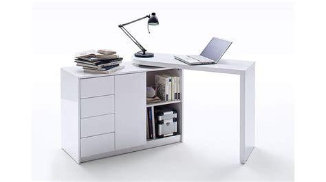 Schreibtisch Weiß Mit Regal by Schreibtisch Vivor Mit Regal Schrank Wei 223 Hochglanz Lack