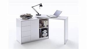 Tischplatte Weiß Hochglanz : schreibtisch vivor mit regal schrank wei hochglanz lack ~ Frokenaadalensverden.com Haus und Dekorationen