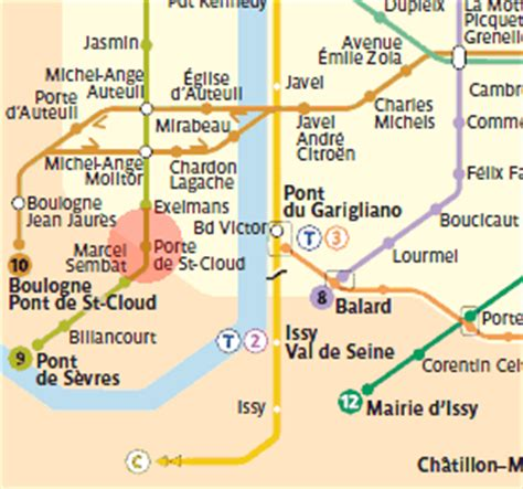metro porte de cloud porte de cloud station map metro