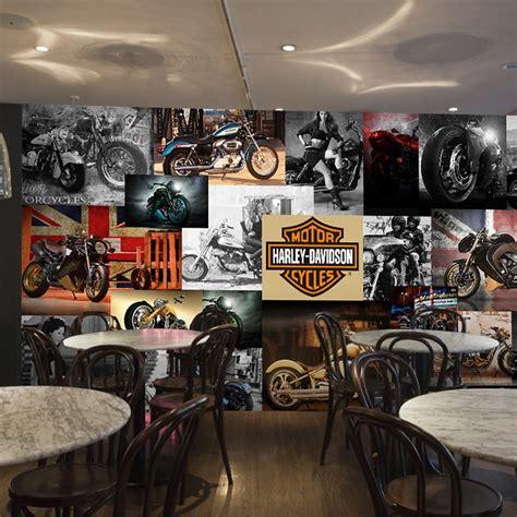 Free Shipping 3d Retro Motorcycle Automotive Themes Ktv