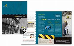 Powerpoint Templates For Training Industrial Commercial Construction Brochure Template