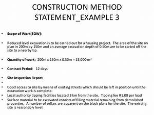 construction statement of work template - lecture slides4 construction project planning