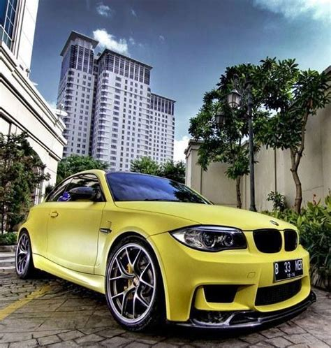 Yellow Bmw 1m Coupe #carflash
