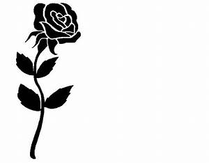 Clipart Rose Black And White | Clipart Panda - Free ...