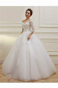 wedding dress v neck lace sleeves discount wedding dresses With v neck wedding dress with sleeves