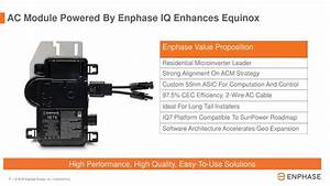 Enphase Energy  Enph  To Buy Sunpower U0026 39 S Microinverter
