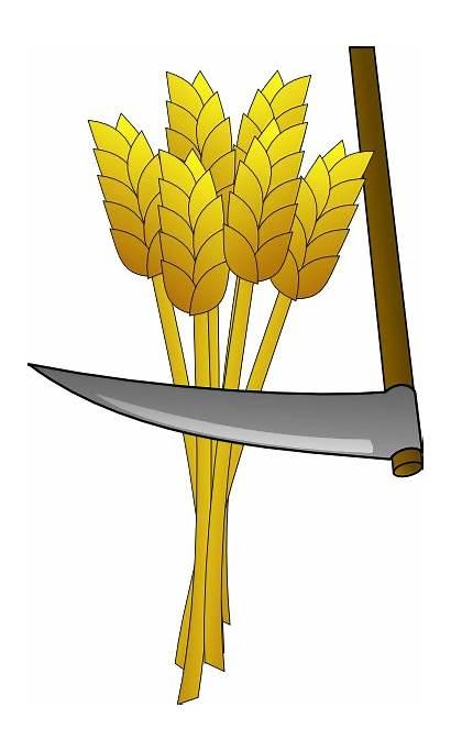 Wheat Clip Farm Harvest Clipart Farming Scythe