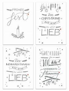 Gutschein Skifahren Vorlage : 12 weihnachtskarten mit 4 motiven im handlettering design eine der guten ~ Markanthonyermac.com Haus und Dekorationen