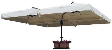 Large Fim Cantilever Patio Umbrella by Quadruplo European Offset Patio Umbrella By Fim
