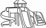 Playground Coloring Pages Park Printable Drawing Simple Sliding Apple Sheets Easy Outdoor Inside Drawings Spring Fun Equipment Learning Learn Paint sketch template