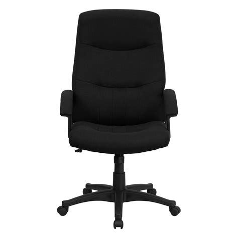 high back black fabric executive swivel office chair bt