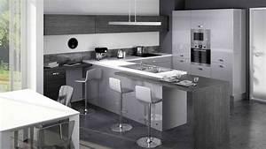 Table De Cuisine Grise : cuisine am nag e grise cuisine en image ~ Dode.kayakingforconservation.com Idées de Décoration