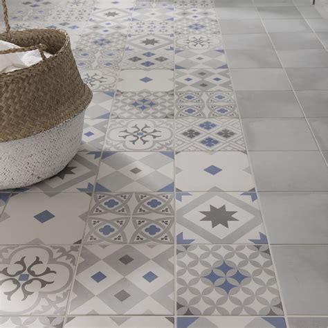 facade meuble cuisine castorama carrelage sol et mur gris bleu effet ciment gatsby l 20 x