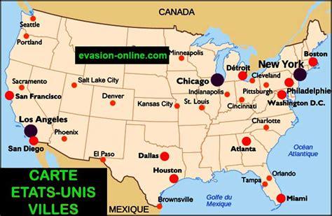 Carte De Avec Villes Principales Et Départements by Carte Des Usa Villes Principales 187 Vacances Arts Guides